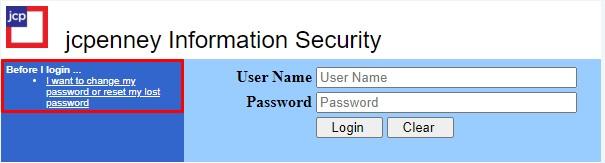 jcpenney kiosk reset password